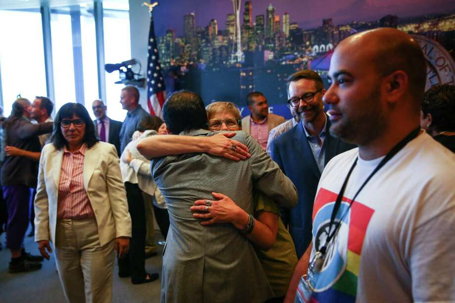 Seattle Celebrates Supreme Court Ruling On Gay Marriage Houston Chronicle
