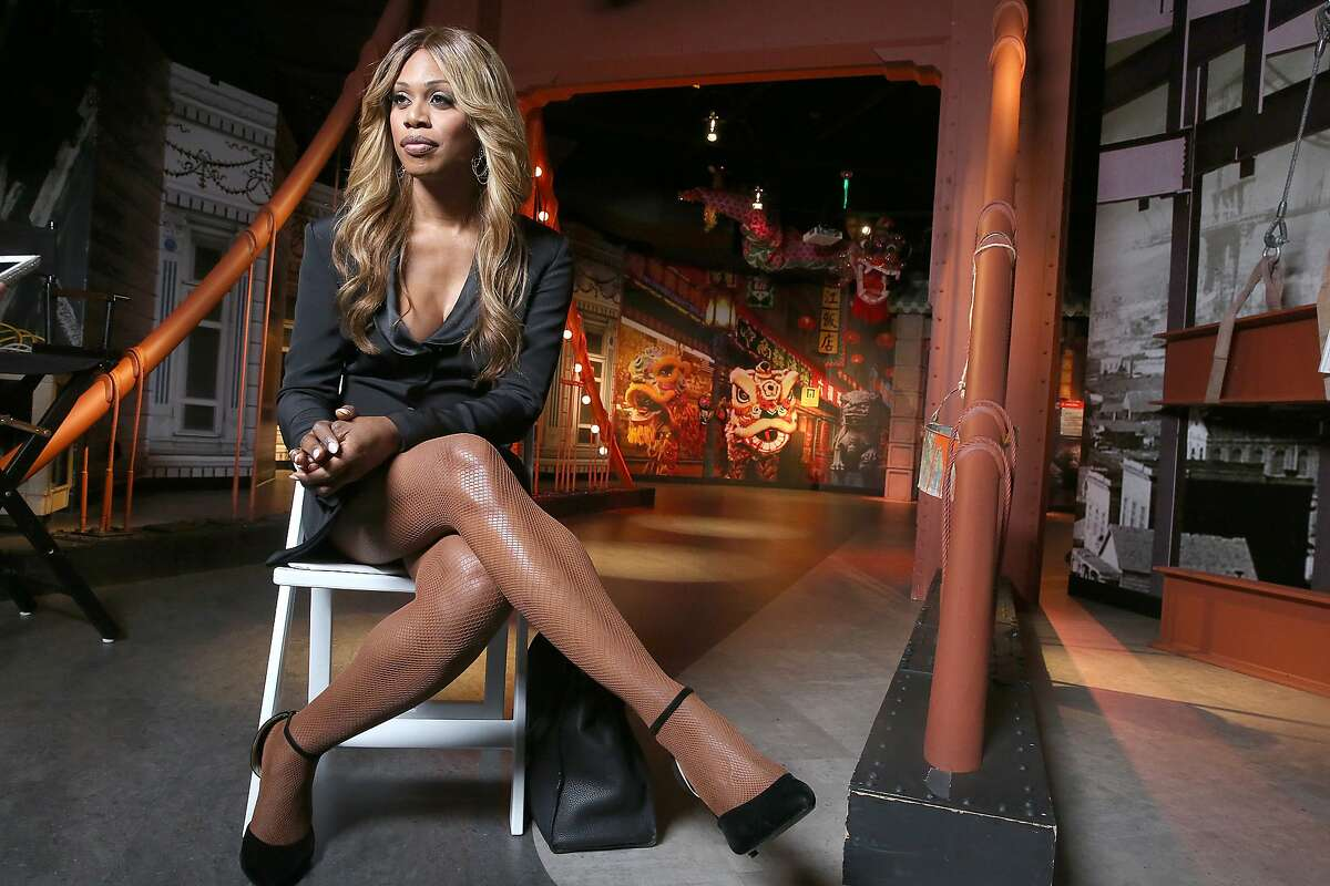 """Transgender star Laverne Cox of series """"Orange is the New Black"""" is at Madam Tussaud's Wax Museum where her wax figure is unveiled in San Francisco, Calif., on Friday, June 26, 2015"""