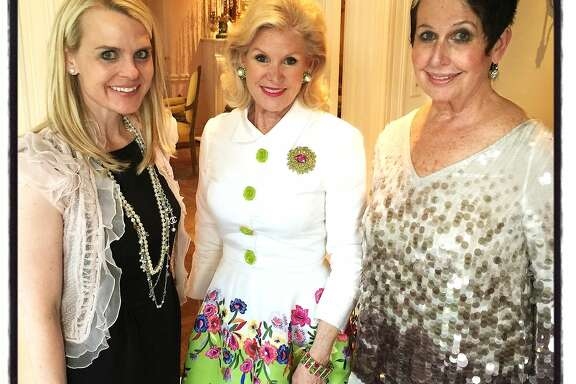 Opera Ball co-chair Jane Mudge (left) with Opera trustee Dede Wilsey and ball co-chair Karen Kubin prep for the Opera's 93rd season opener in September.  June 2015. By Catherine Bigelow.