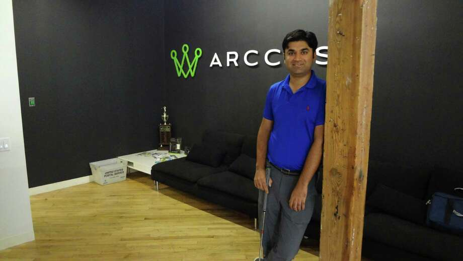 Arccos CEO Sal Syed on June 23, 2015, at the startup's offices in Stamford, Conn. Arccos sells sensors in the Apple Store and other retailers that allow golfers totrack their game play on an app. Photo: Alexander Soule / Alexander Soule / Stamford Advocate