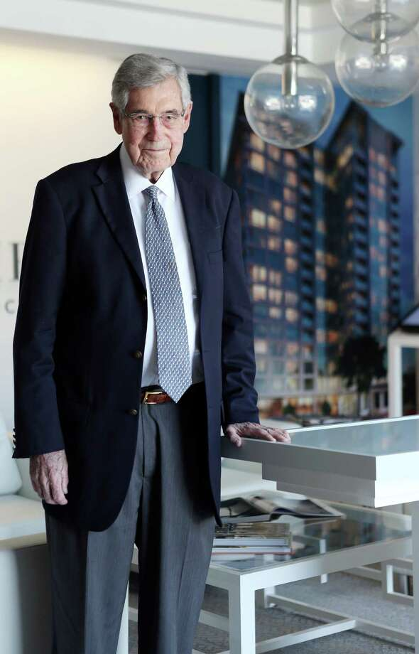 Houston developer Robert Bland, shown at The Wilshire sales center,  believes his new project will become a landmark building. Photo: Mayra Beltran, Staff / © 2015 Houston Chronicle