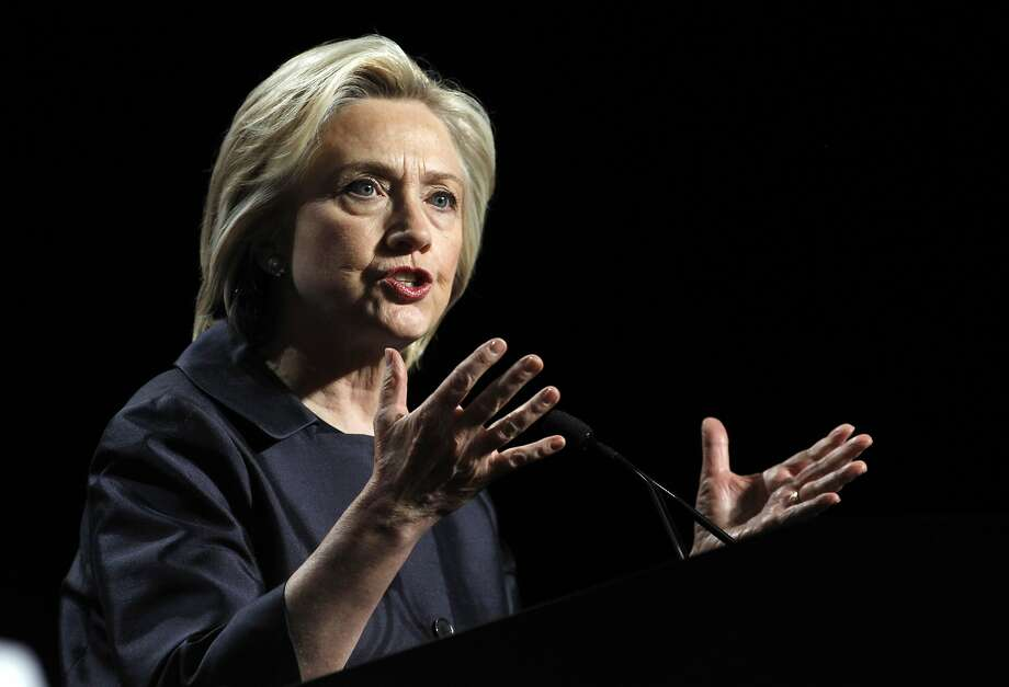 FILE - In this June 20, 2015, file photo, Democratic presidential candidate Hillary Rodham Clinton speaks at the U.S. Conference of Mayors 83rd Annual Meeting in San Francisco.  Photo: Mathew Sumner, Associated Press