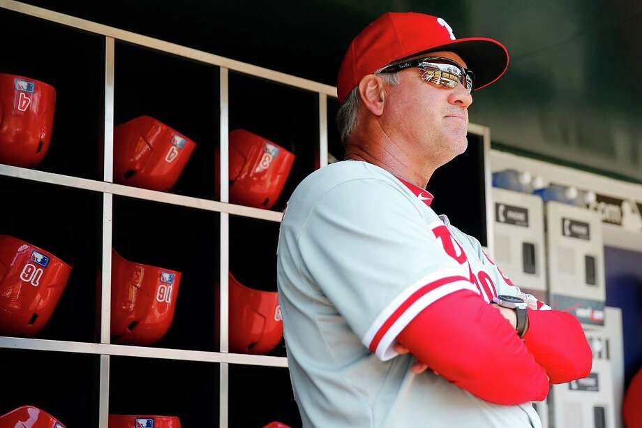 FILE - JUNE 26, 2015: According to reports, Philadelphia Phillies manager Ryne Sandberg has resigned. NEW YORK, NY - MAY 27: Ryne Sandberg #23 of the Philadelphia Phillies looks on prior to the game against the New York Mets at Citi Field on May 27, 2015 in Flushing neighborhood of the Queens borough of New York City.  (Photo by Mike Stobe/Getty Images) ORG XMIT: 531592423 Photo: Mike Stobe / 2015 Getty Images