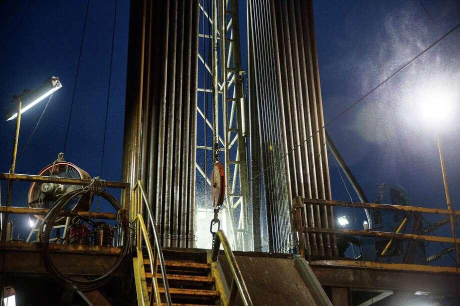 An oil rig in Hallettsville, Texas on May 22, 2015. Photo: Carolyn Van Houten, Staff / 2015 San Antonio Express-News