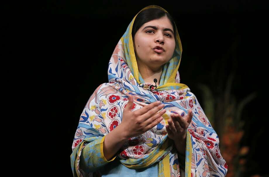 Nobel Laureate, Malala Yousafzai speaks to a crowd of nearly 4,000  at the San Jose State Events Center on Fri. June 26, 2015, in San Jose.  Photo: Michael Macor, The Chronicle