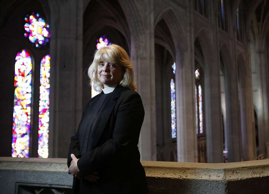 Reverend Canon Elizabeth Grundy of Grace Cathedral, who performs same-sex weddings,  photographed in the cathedral in San Francisco, Calif., on Saturday, June 27, 2015. Photo: Sarah Rice, Special To The Chronicle
