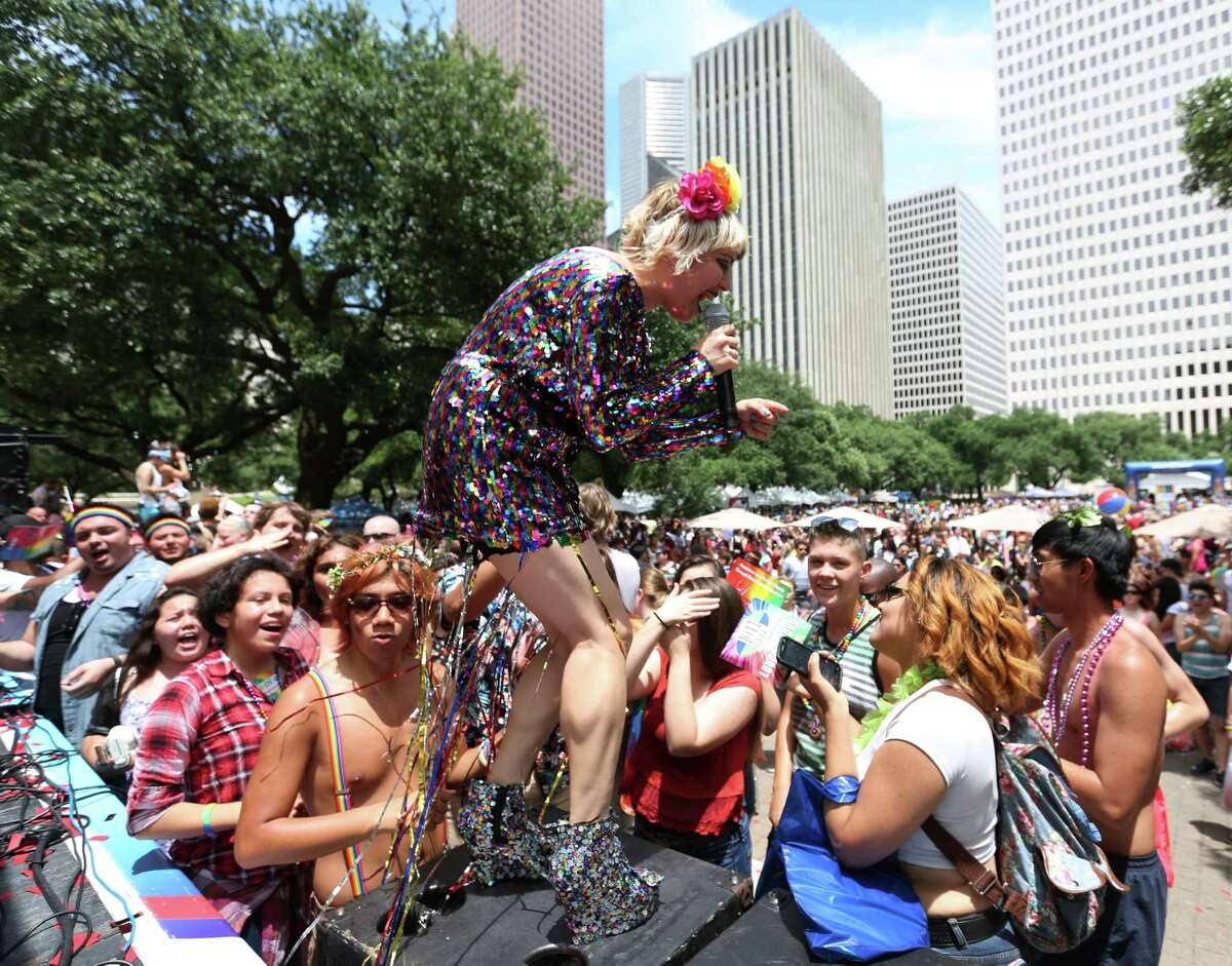 Performer and entertainer of the year nominee Gin Martini. She was the 2015 Pride Superstar winner.