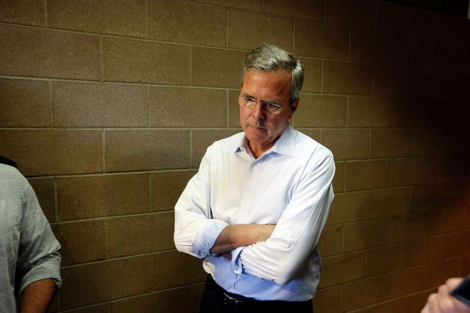 Republican presidential candidate, former Florida Gov. Jeb Bush waits in a hallway after a campaign event Saturday, June 27, 2015, in Henderson, Nev. (AP Photo/John Locher) Photo: John Locher, STF / AP