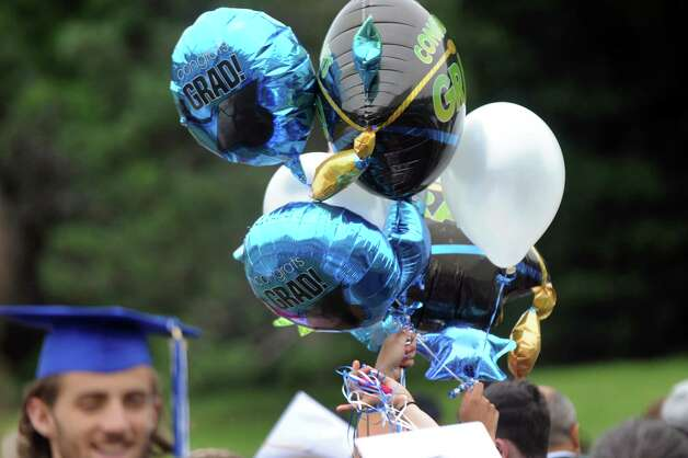 Graduation balloons are on parade after the Shaker High commencement ceremony on Saturday, June 27, 2015, at UAlbany in Albany, N.Y. (Cindy Schultz / Times Union) Photo: Cindy Schultz / 00032180A