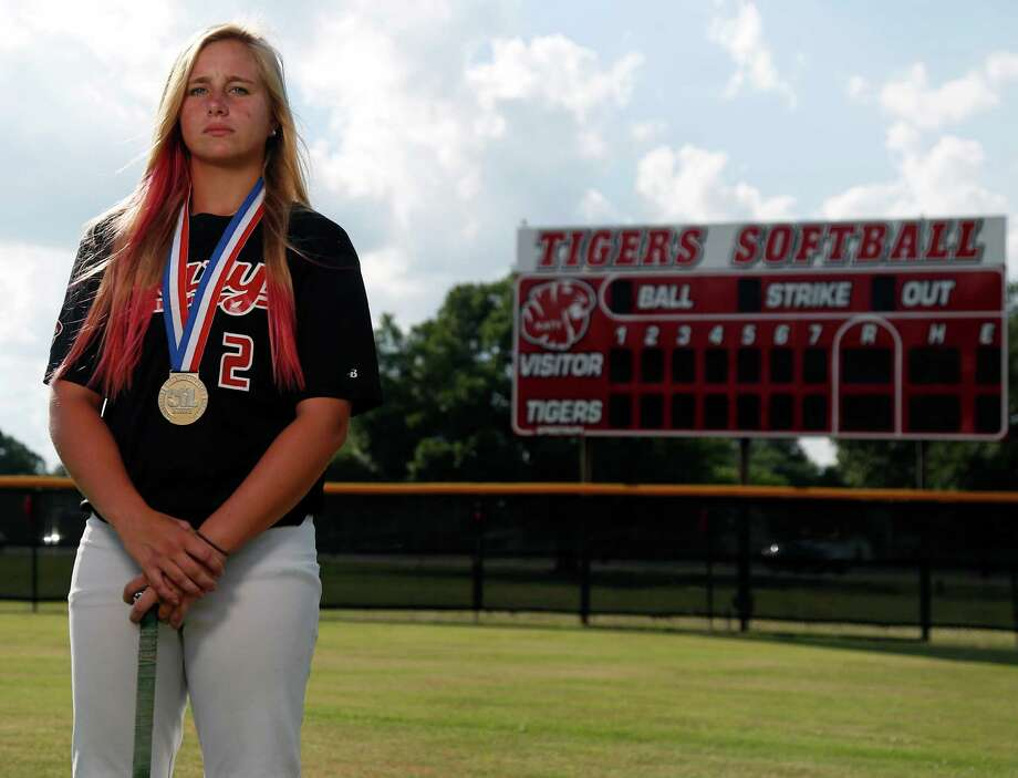 Katy senior Kourtney Coveney batted .491 during the regular season. She will play college softball at West Texas A&M. Photo: James Nielsen, Staff / © 2015  Houston Chronicle