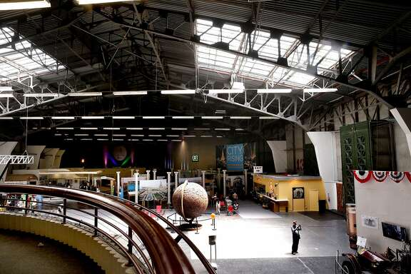 Inside the Palace of Fine Arts building where the current tenant The Innovation Hanger occupies the space in San Francisco, Calif., as seen on Sat. June 27, 2015.