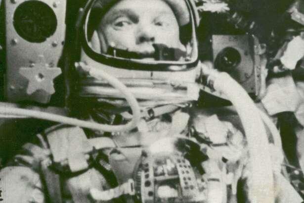 This Feb. 20, 1962 photo made available by NASA shows astronaut John Glenn during his space flight in the Friendship 7 Mercury spacecraft, weightless and traveling at 17,500 mph. The image was made by an automatic sequence motion picture camera. (AP Photo/NASA)