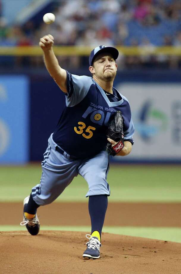 ST. PETERSBURG, FL - JUNE 27:  Matt Andriese #35 of the Tampa Bay Rays pitches during the first inning of a game against the Boston Red Sox on June 27, 2015 at Tropicana Field in St. Petersburg, Florida.  (Photo by Brian Blanco/Getty Images) ORG XMIT: 538584595 Photo: Brian Blanco / 2015 Getty Images