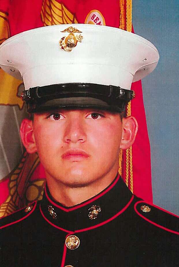 "Jorge ""Bubba"" Salinas when he was in the Marines. Salinas served two tours in Afghanistan before being honorably discharged in 2013. He spent 40 days in jail over the Waco Twin Peaks biker incident before being released Thursday. Photo: Photo Courtesy Of The Salinas Fa / Photo courtesy of the Salinas fa"