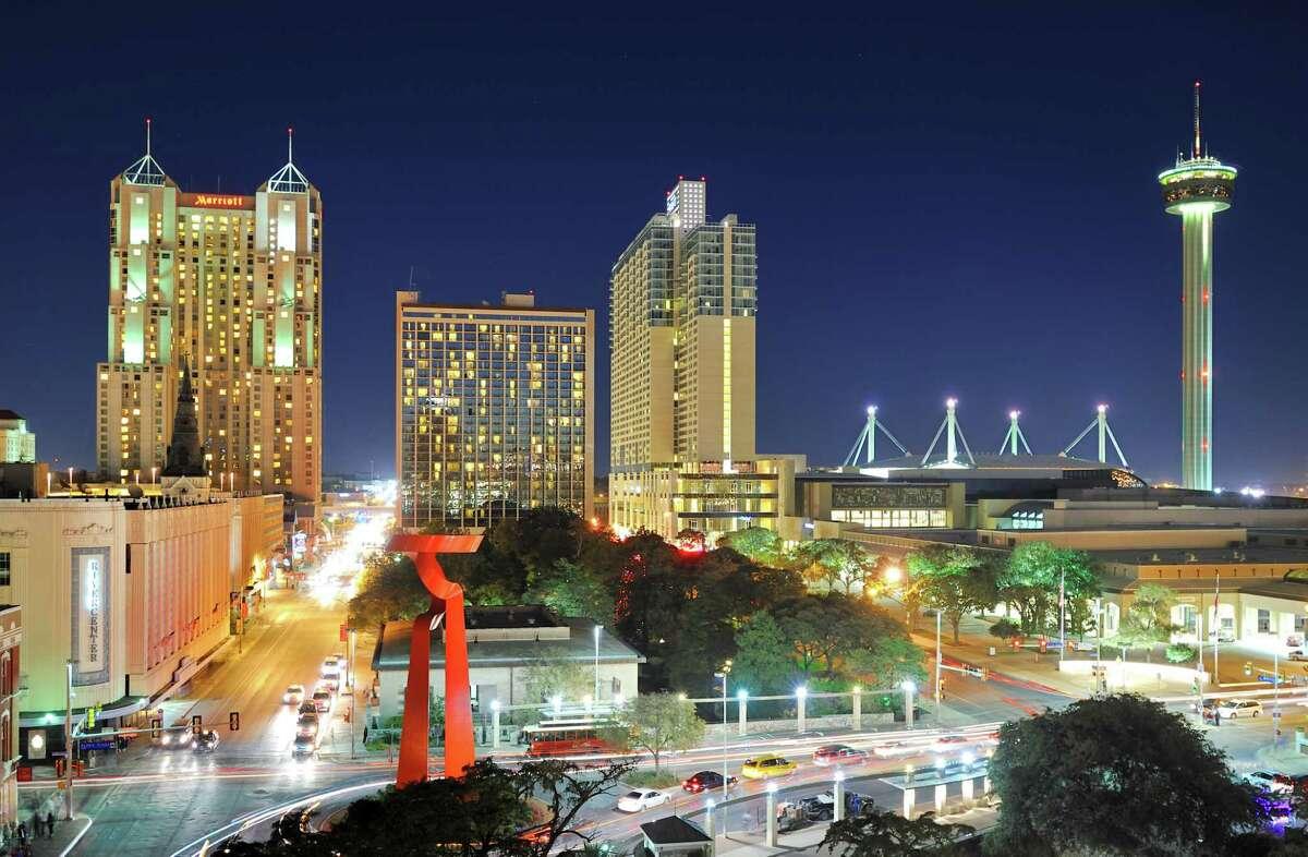 San Antonio Night Skyline