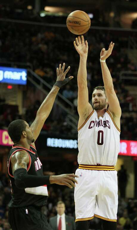 Forward Kevin Love decided to become a free agent and test the waters. But he knows the Cavaliers, with LeBron James, will be a threat to again play for the NBA championship, which is a strong incentive to remain in Cleveland. Photo: Mike Cardew, MBR / Akron Beacon Journal