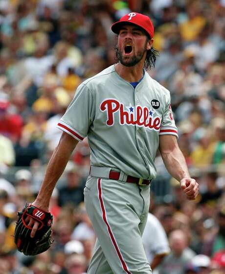 The Astros are not on Cole Hamels' list of nine teams that he could be traded to without requiring him to waive his partial no-trade clause, but the Phillies lefthander said he is open-minded about pitching for any club. Photo: Gene J. Puskar, STF / AP