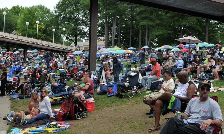 Spectators watch various performers during Jazz Fest Saturday, June 27, 2015, at the Saratoga Performing Arts Center in Saratoga Springs, N.Y. (Phoebe Sheehan/Special to The Times Union)