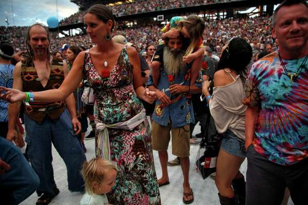 2of62fans Dance During The First Set Of The First Of Five Fare Thee Well Shows By The Grateful Dead At Levis Stadium In Santa Clara Calif On Saturday