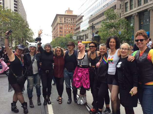The celebration kicks off with hundreds of Dykes on Bikes. Photo: Carla Marinucci