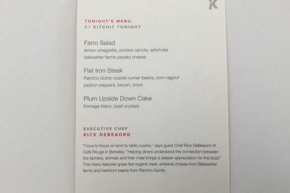 A 3-course meal from Kitchit Tonight