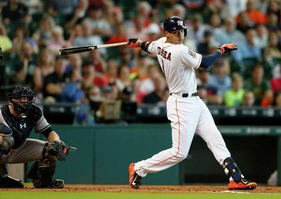 Astros shortstop Carlos Correa Photo: Karen Warren, Houston Chronicle / © 2015 Houston Chronicle