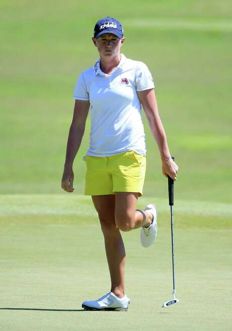 Stacy Lewis, trying to coax home a putt, tied for third in the NW Arkansas Championship, an area where The Woodlands product is popular after playing collegiately at Arkansas. Photo: Sam Greenwood, Staff / 2015 Getty Images