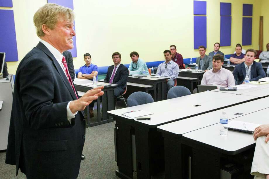 Leigh Steinberg shared his insight into being one of the nation's top sports agents at a symposium in Houston on Saturday. Photo: Brett Coomer, Staff / © 2015 Houston Chronicle