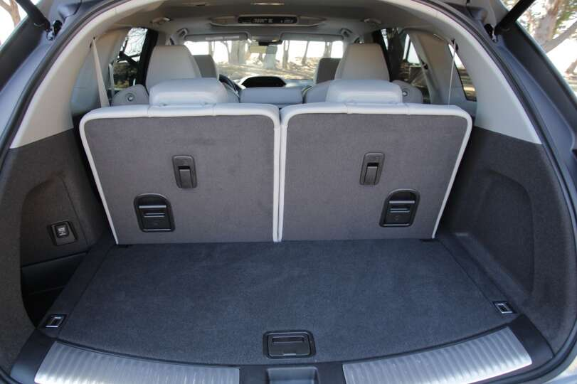 cargo space in cubic feet  15 with second and third rows up  38 4     photo