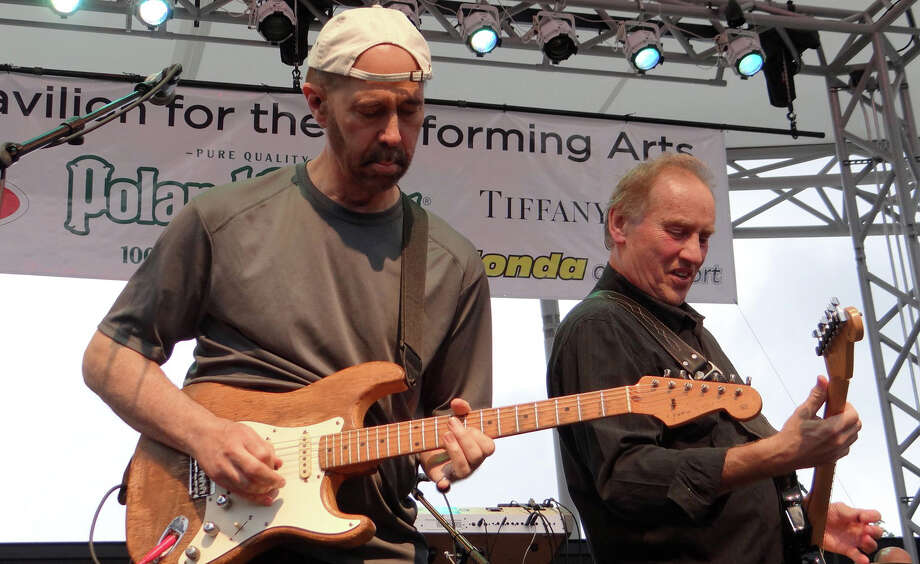 "Orleans band co-founder and guitarist John Hall and guitarist Dennis ""Fly"" Amero perform on opening night Sunday of the summer season at the Levitt Pavilion for the Performing Arts. Photo: Mike Lauterborn / For Hearst Connecticut Media / Westport News"
