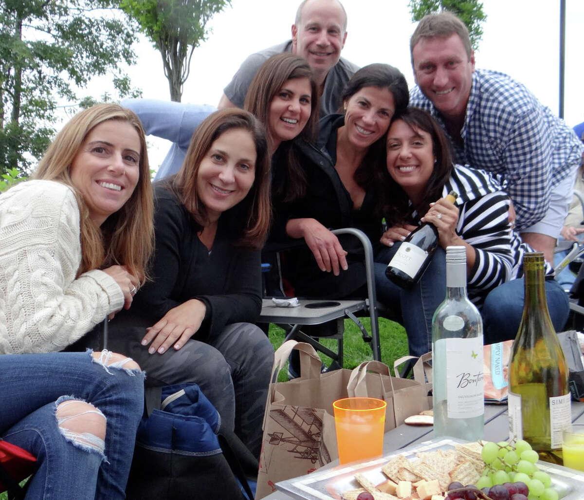 Among those picnicking on the Levitt Pavilion's season-opening night were Raquel Kobak, Sheri Katz, Rose Serels, David Katz, Cheryl Herman, Julie Beitman and Jared Herman.