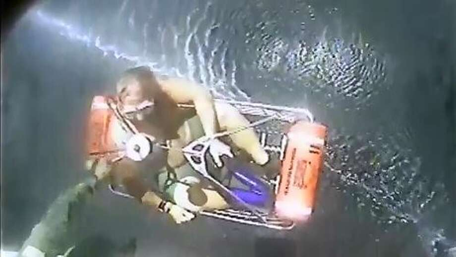 The U.S. Coast Guard rescued two San Antonio divers June 27 who went missing for more than three hours in the Gulf of Mexico. Photo: White, Tyler L, Courtesy Photo/U.S. Coast Guard