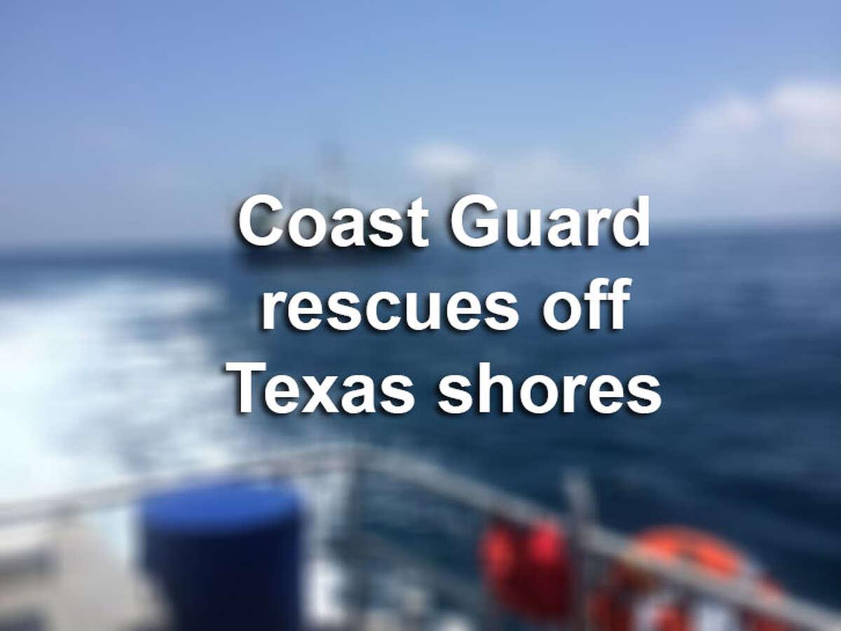 Explore U.S. Coast Guard rescues off Texas shores.