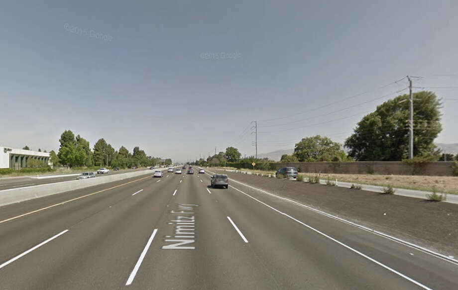 A man was struck on I-880 after being involved in an accident on the freeway just north of the Montague Expressway late Sunday night. Photo: Google Maps