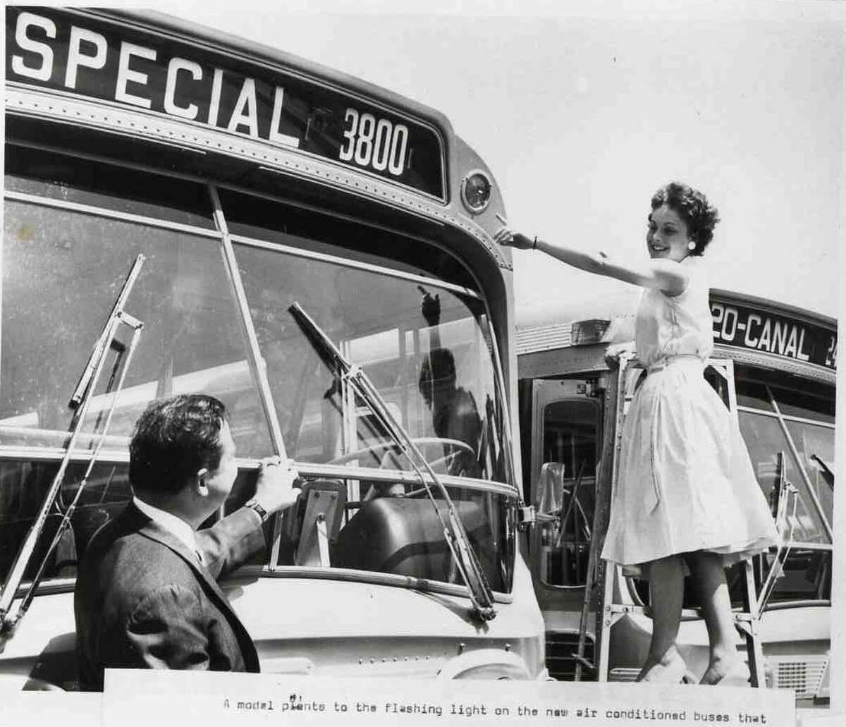 """Houston's Rapid Transit Company -- a precursor to METRO -- received the first 100 air-conditioned """"Dreamliner"""" buses, placing them in service on September 10, 1961."""