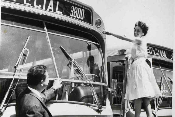 "Houston's Rapid Transit Company -- a precursor to METRO -- received the first 100 air-conditioned ""Dreamliner"" buses, placing them in service on September 10, 1961."