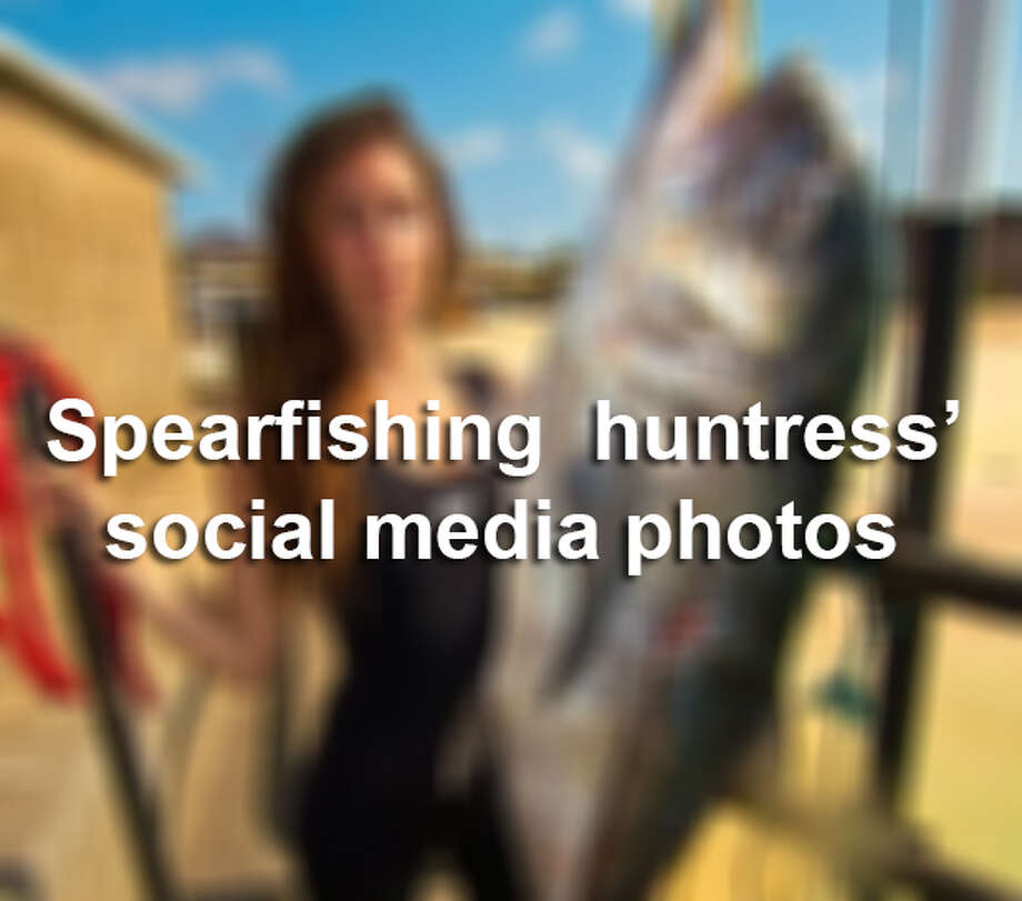 Valentine Thomas, a world record holding spearfisher, pushes for sea preservation clad in a bikini, or a wet suit. Despite some negative feedback on social media, Thomas said she will use her social media platform with a follower base of more than 5,000 people to educate her fans and promote sustainable eating habits. Photo: Medina, Mariah, Illustration