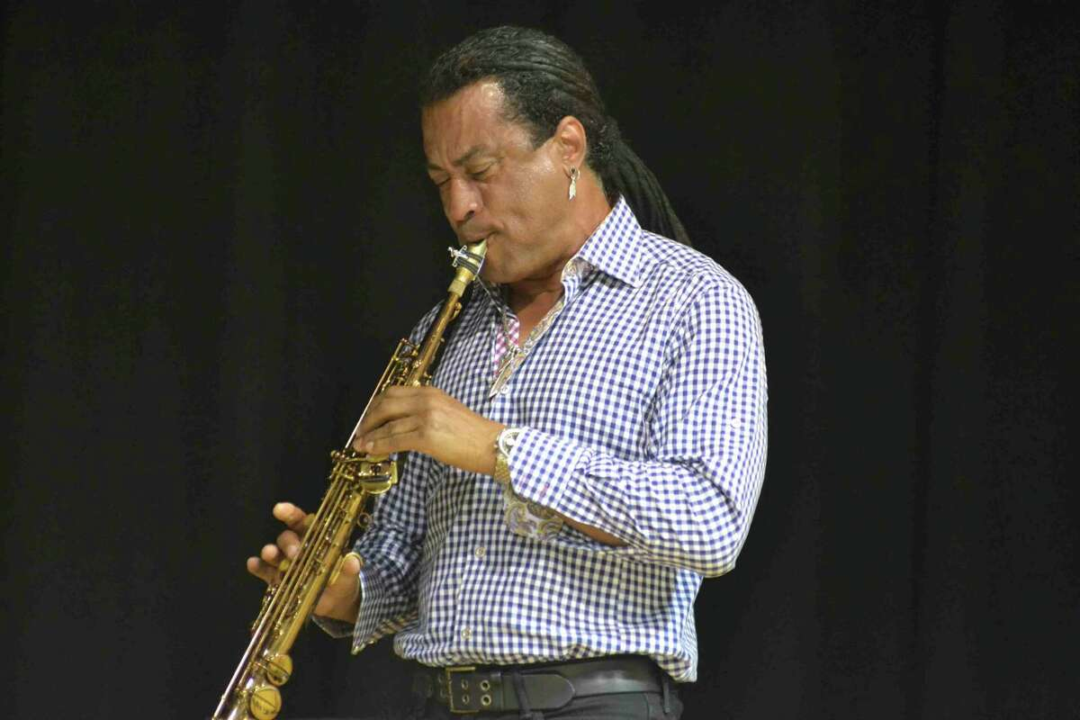 Marion Meadows, an internationally acclaimed jazz saxophonist and Rippowam High School graduate, played a private concert for students in Stamford's Project Music last week.