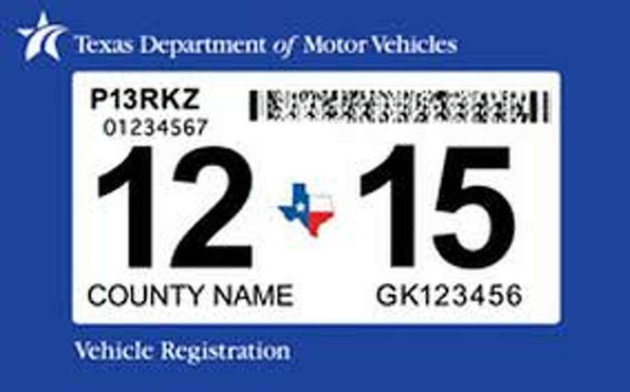 Texas registration sticker