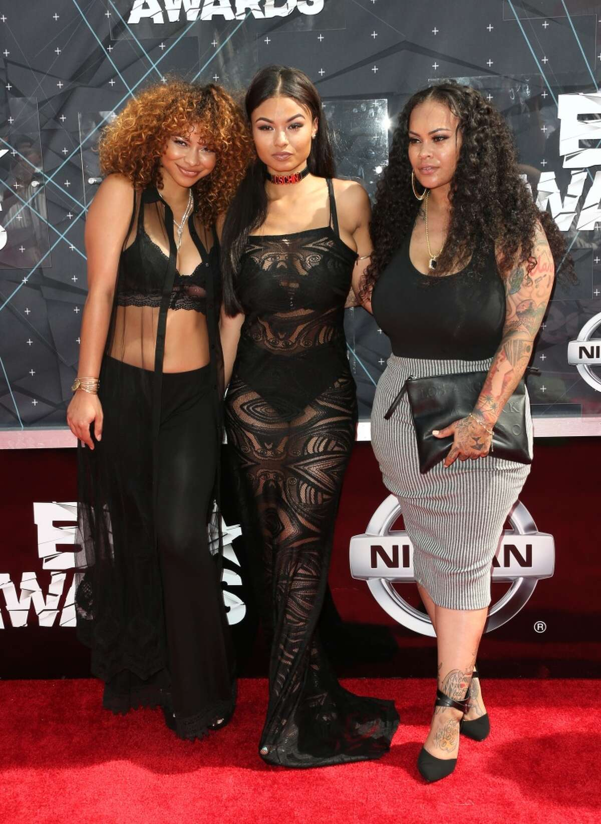 LOS ANGELES, CA - JUNE 28: Crystal WestBrooks, India Love Westbrooks and Morgan Westbrooks attend the 2015 BET Awards at the Microsoft Theater on June 28, 2015 in Los Angeles, California. (Photo by Frederick M. Brown/Getty Images for BET)