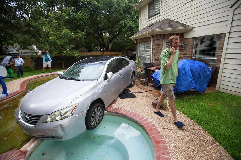 When TV newspeople became the newsDon't you just hate it when that happens? A driver accidentally drove into KRIV-TV reporter John Donnelly's pool on June 29, 2015.  Keep clicking to see other stories where TV newspeople became the news. Photo: Cody Duty, Houston Chronicle / © 2015 Houston Chronicle