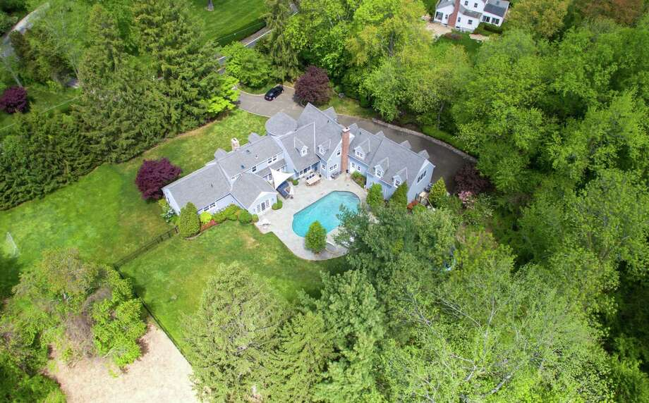 An aerial view of 72 Nearwater Lane in Darien. Photo: Contributed / Contributed Photo / Darien News