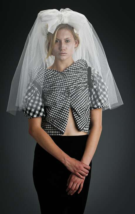 Comme des Garcons' Tricot wedding fashion collection, from Spring 2014. Photo: Russell Yip, The Chronicle