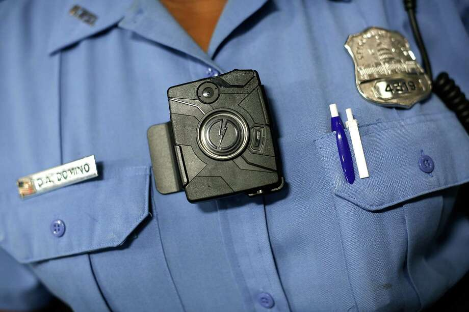 This file photo shows Washington DC Metropolitan Police officer wearing a body camera. The devices are coming to the San Antonio Police Department and likely will be more and more widespread. Photo: Win McNamee /Getty Images / 2014 Getty Images