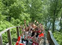 Lake Compounce in Bristol features Boulder Dash, a wooden roller coaster that can hit a top speed of 60 miles per hour.