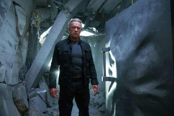 "Arnold Schwarzenegger reprises his role as the Terminator in ""Terminator Genisys."" (Melissa Sue Gordon/Paramount Pictures/TNS)"