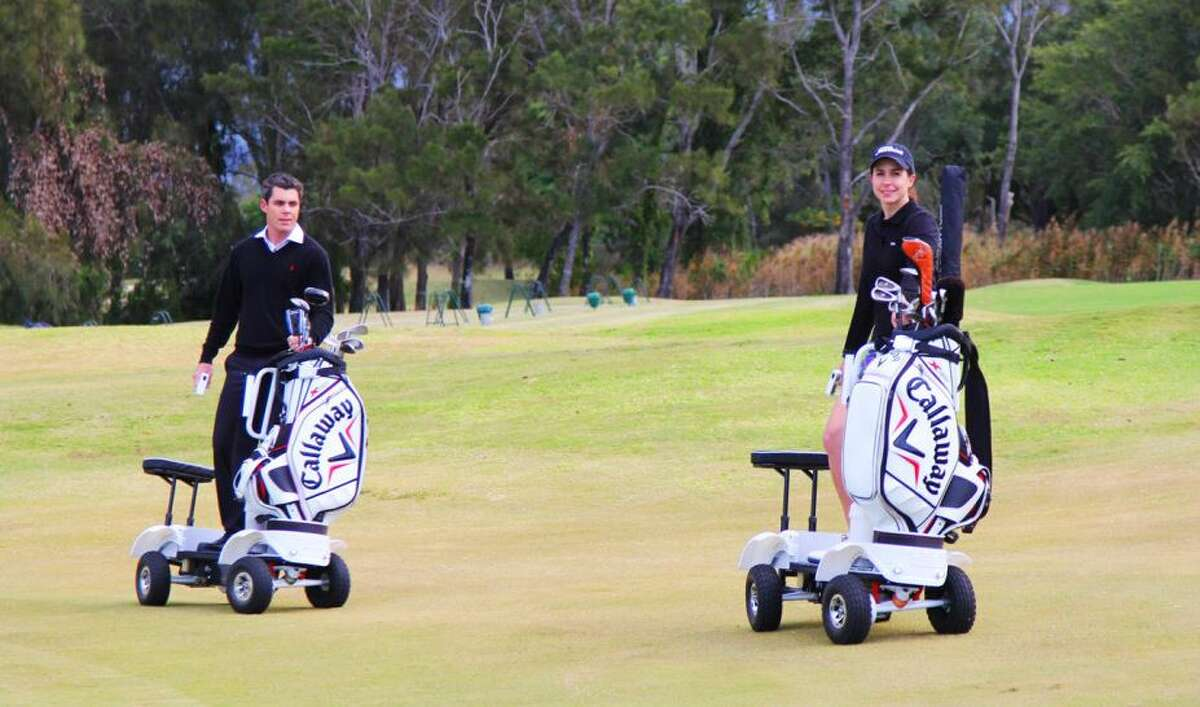 The Golf Skate Caddy provides a new way to move around the golf course.