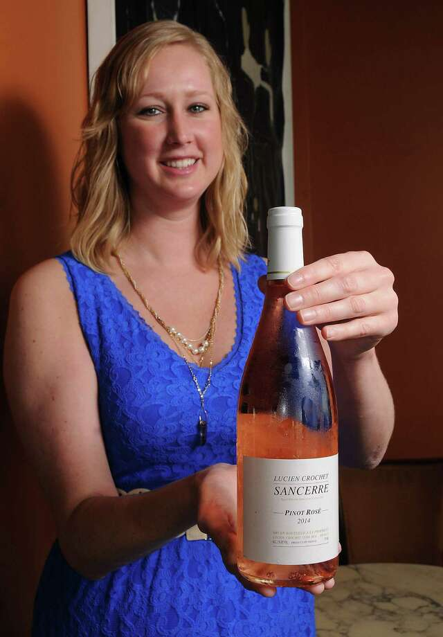 General manager Adele Corrigan with a bottle of Lucien Crochet Sancerre Pinot Rosé 2014 at 13 Celsius Sunday June 14, 2015. (Dave Rossman photo) Photo: Dave Rossman, Freelance / Freelalnce