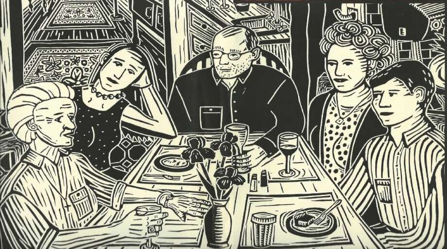 """See """"In praise of imperfect fathers,"""" by Elizabeth White-Olsen. Photo: Woodblock Print By Elizabeth White-Olsen"""
