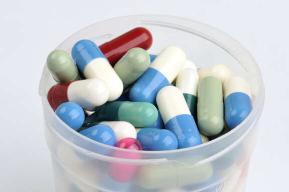 Container with pills